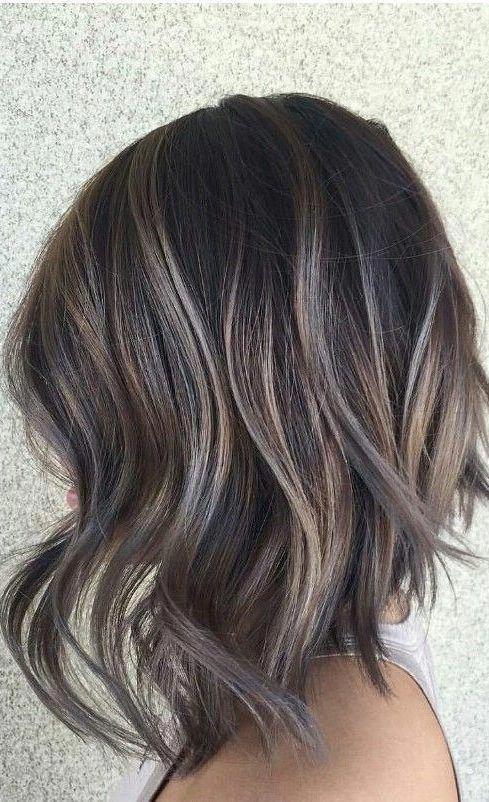 28 Incredible Examples Of Caramel Balayage On Short Dark Brown Hair Caramel Balayage On Short Da Short Dark Brown Hair Brown Hair Balayage Short Hair Balayage