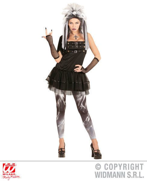 Women Ladies Gothic Dark Fairy Fancy Dress Horror Glamour Halloween Costume ES