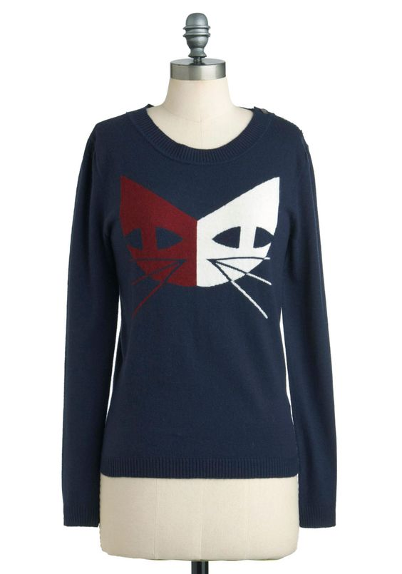 Copied Cats Sweater ModCloth