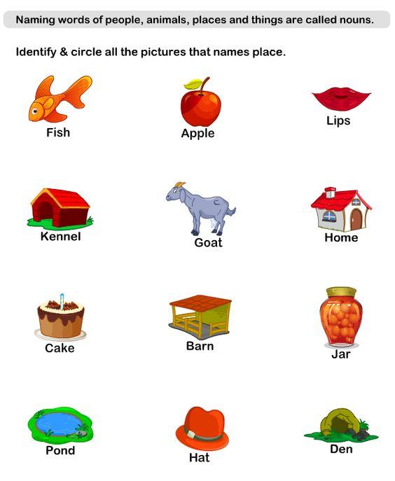 Naming Words Worksheets - esl-efl Worksheets - kindergarten ...