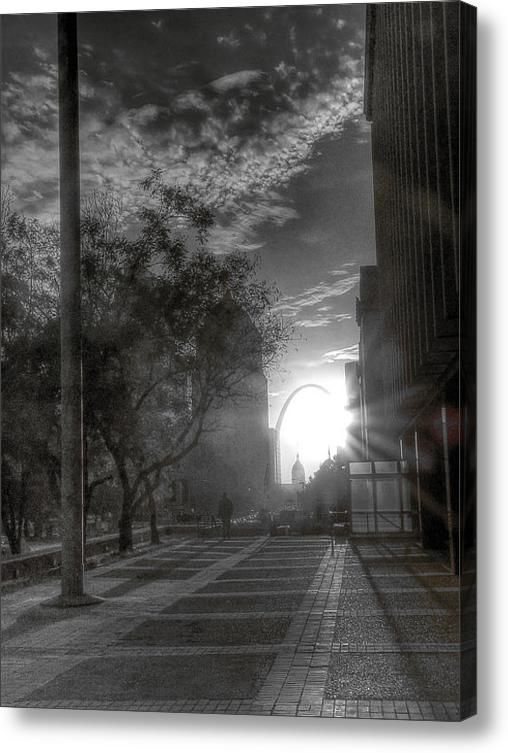 The Lone Man Is An Urban Nomad Acrylic Print  William Fields