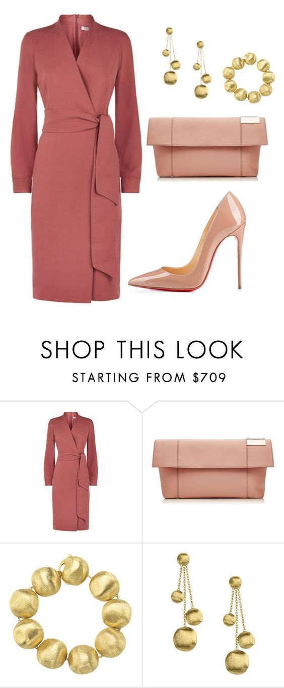 """style theory by Helia"" by heliaamado on Polyvore featuring moda, MaxMara, Victoria Beckham, Marco Bicego e Christian Louboutin:"