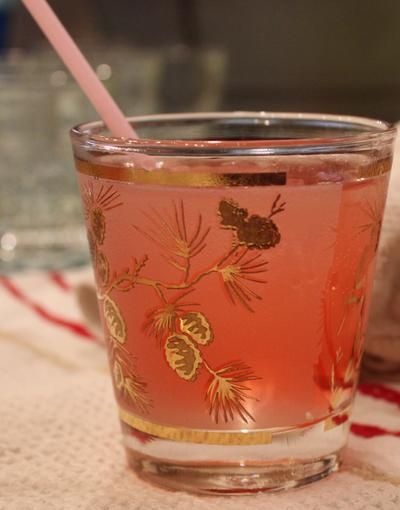 ... rose water cardamom simple syrup, grapefruit juice, soda water and a