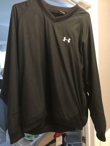 Under Armour Pullover Golf AllWeather Sideline Jacket Men's Large Black V-Neck https://t.co/f7jdx1QQnb https://t.co/g0YxTI8JsE