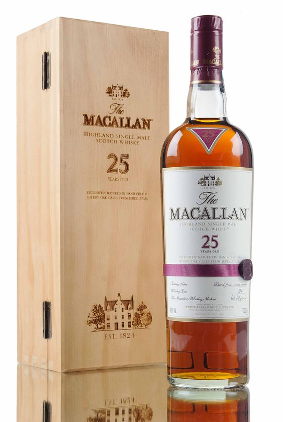 The casks used for this release were previously filled with dry Oloroso sherry and seasoned for up to two years before being emptied and shipped to Macallan to be filled with Macallan new make spirit, then left to gently slumber for over 25 years!
