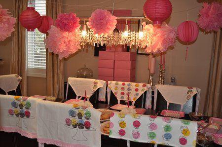 cupcake bakery birthday party 086
