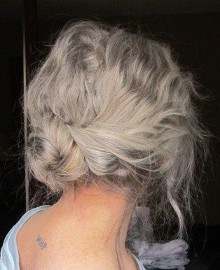 Silver hair with plaits