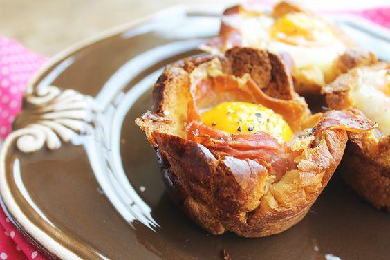 Cestinhas de Brioche com Ovo para o café da manhã