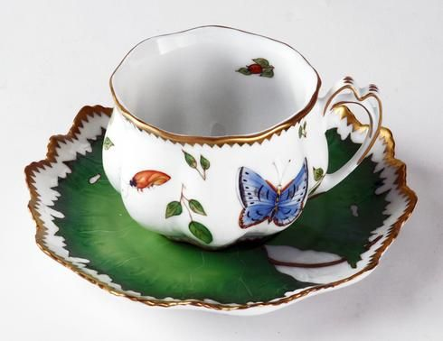 morning glory porcelain | Morning Glory Ruffled Cup & Saucer | Gracious Style