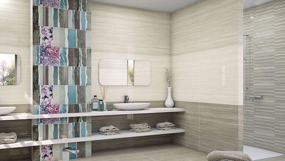 Azulejos Para Baño Porcelanite:Nuevas ideas para decorar las paredes del baño Azulejos de diseño