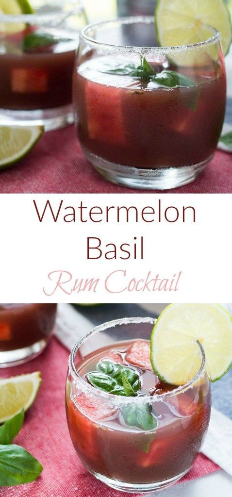 This is one of the most refreshing rum drinks I've ever had. Juicy watermelon coupled with the bright notes of basil, this cocktail is just what the doctor ordered.