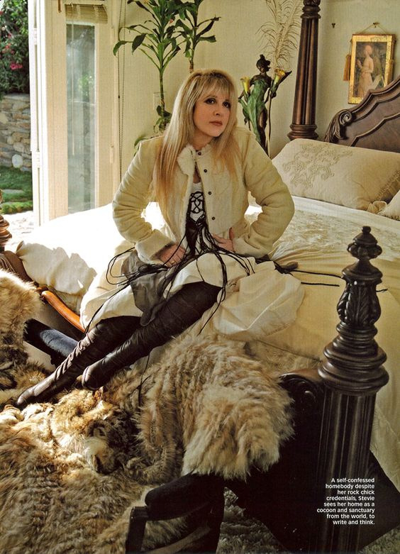 Stevie and her California home were featured in Australia's Women's Weekly in December of 2005. STEVIE NICKS. HER LIFE: Calendar: December