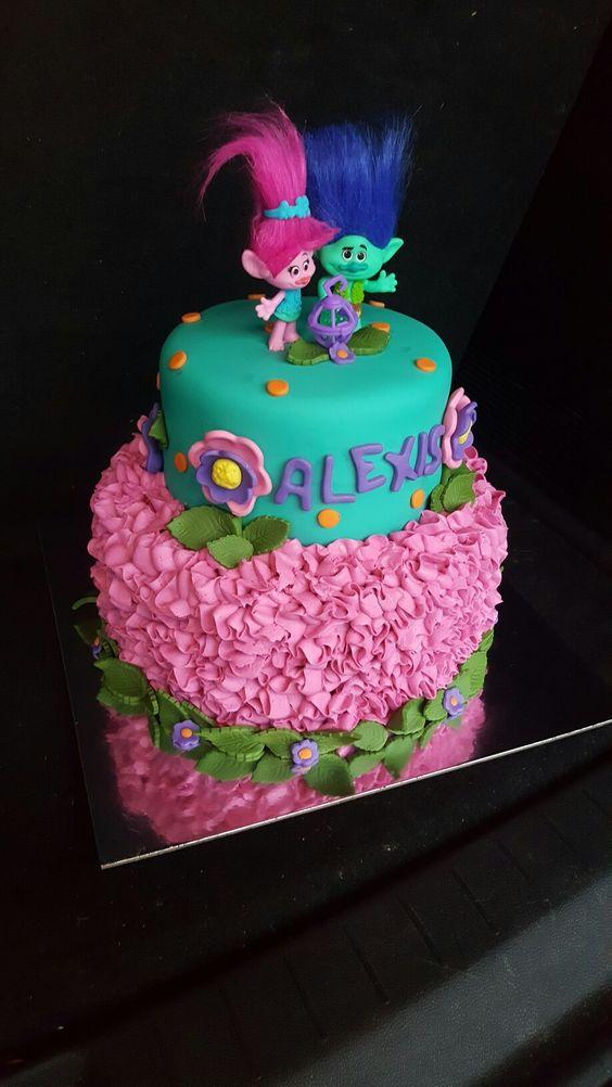 Dreamworks Trolls Cake by Cakes by Zoie: