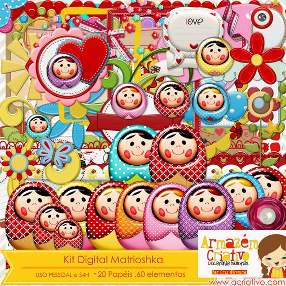 Kit digital Matrioshka Já a venda na loja  http://acriativo.com/loja/index.php?main_page=product_info=34_id=686=a5447702fcc7d1f539fcfcb17430a078