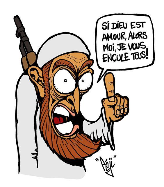 P ji dessin daesh message d 39 amour caricatures et - Dessin d amour ...