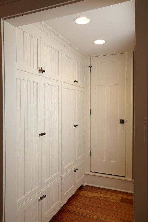 Built in hall cabinets love the look may add floor to for Built in cupboards designs