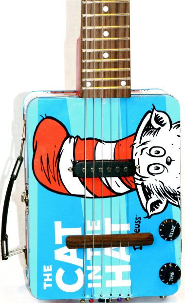 cat in the hat Lunch box guitar