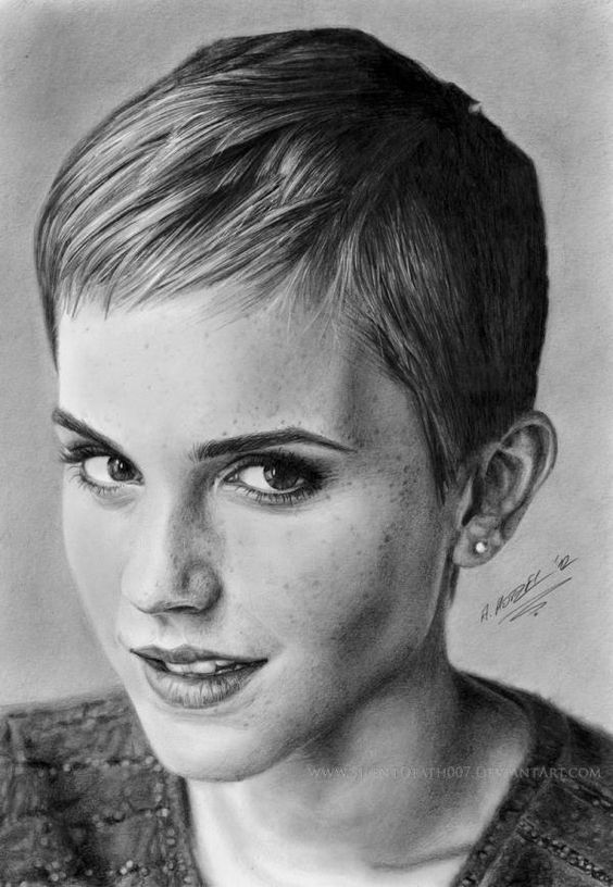 Pencil Art by silentdeath007  Arte a lpiz Famosos y Emma watson