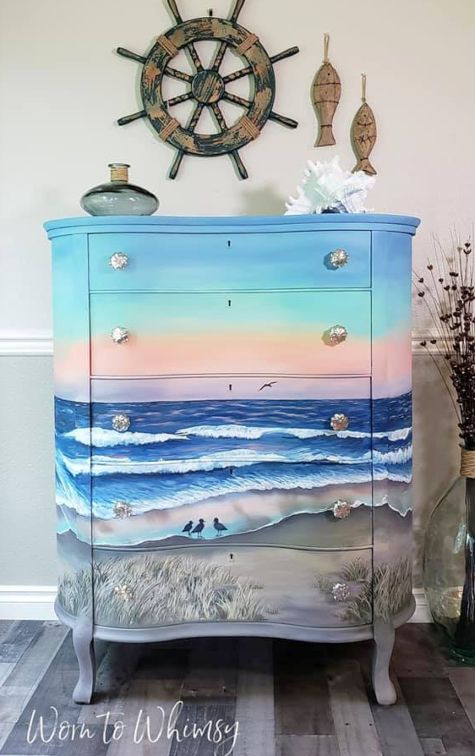 27 Dresser Makeover Ideas Coastal Beach Nautical Style Creative Furniture Painted Furniture Upcycled Home Decor