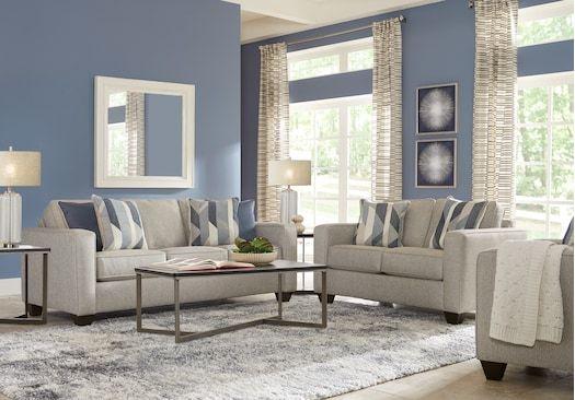 Ridgewater Light Gray 5 Pc Living Room Living Room Sets Gray