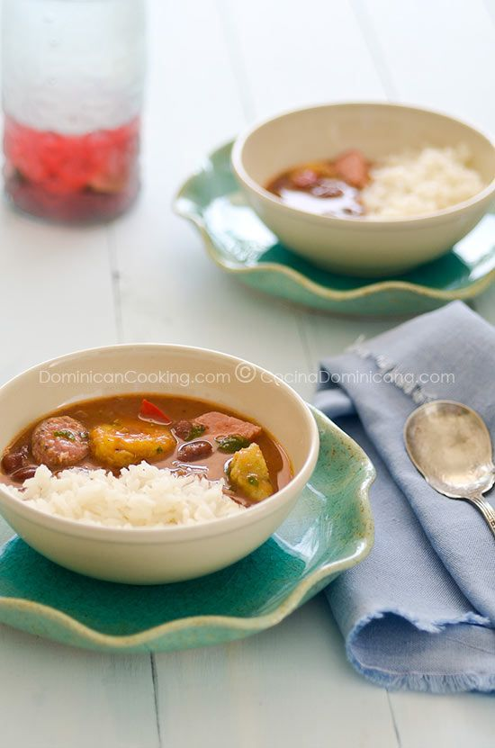 Red beans stew and spicy on pinterest for Chambre de guandules dominicano