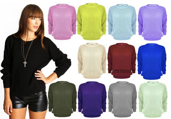 WOMENS LADIES BAGGY OVERSIZED CHUNKY KNIT SWEATER JUMPER CARDIGAN TOP PLUS SIZE #Unbranded #CasualEverydayetc