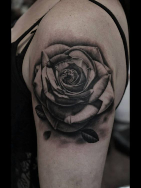 Inked black and grey rose tattoo amazing pinterest for Black and gray rose tattoos