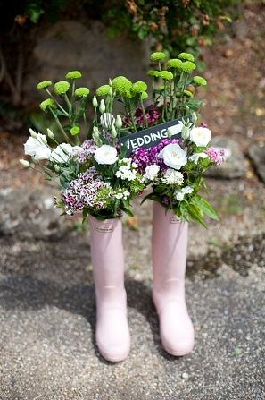 DECORATIONS: These would look great in the doorway / entrance where the wellies usually are.