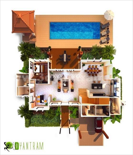 3d Floor Plan Home By Walkthrough 2015 Adver Ad Aff Plan Walkthrough Home Floor Floor Plan Design Architectural Design Studio Plan Design