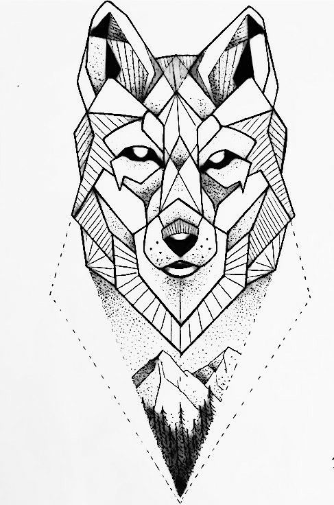 Tattoo Tatuajedelobo Tatoowolf Tattoowolf Tatuajegeomet Geometric Wolf Tattoo Geometric Drawing Geometric Wolf