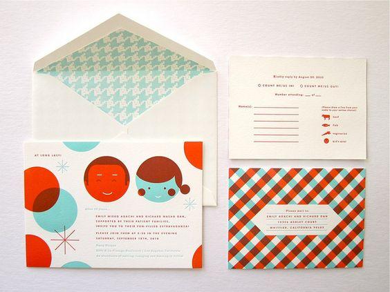 Emily + Dan wedding invitations