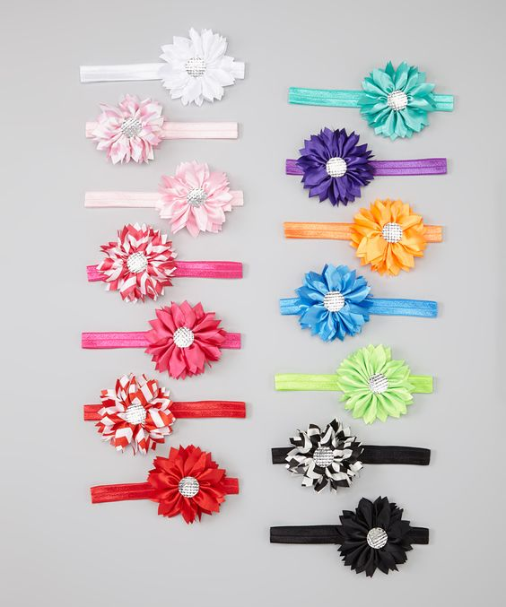 Pink & Red Daisy Headband Set | Daily deals for moms, babies and kids...seems pretty simple to figure out how this is made