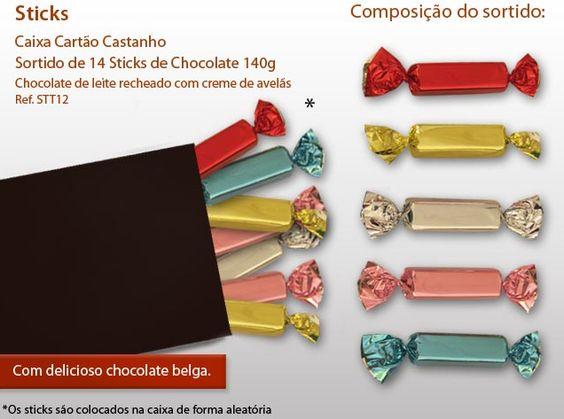 Os nossos sticks de chocolate com recheiro de creme avelã são uma tentação. Prove já!