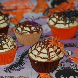 Cupcakes toile d'araignée d'Halloween
