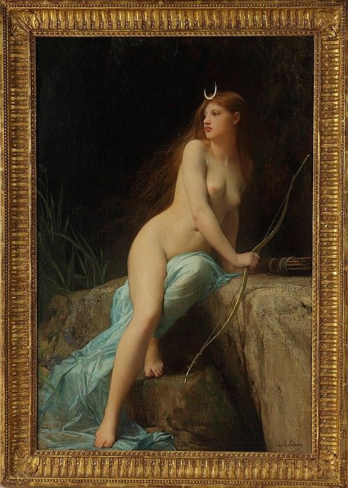 """Jules Joseph LeFebvre (French, 1836-1911) """"Diana, - by Cottone Auctions"""