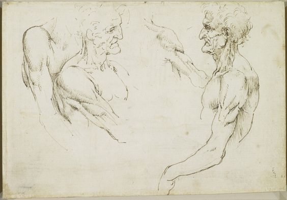 Recto: The bones of the arm and leg. Verso: The surface anatomy of the shoulder | Royal Collection Trust