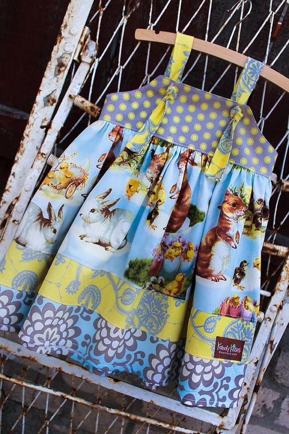 Boutique Handmade Custom Spring Easter Knot Dress on Etsy, $45.00