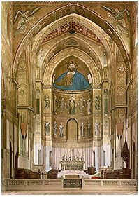 Monreale Facing the sanctuary and apse.