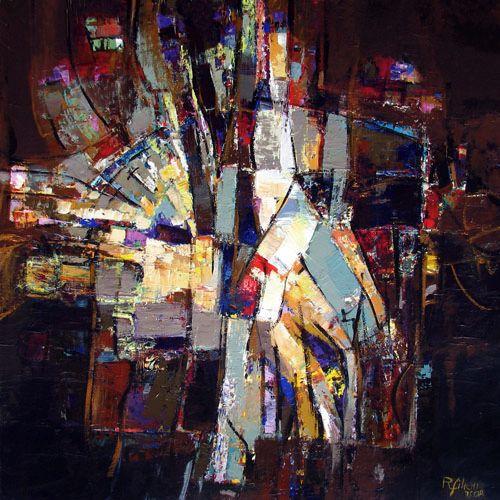RÉMI FILION - Métamorphose, acrylic on canevas 2008, 36 x 36 in
