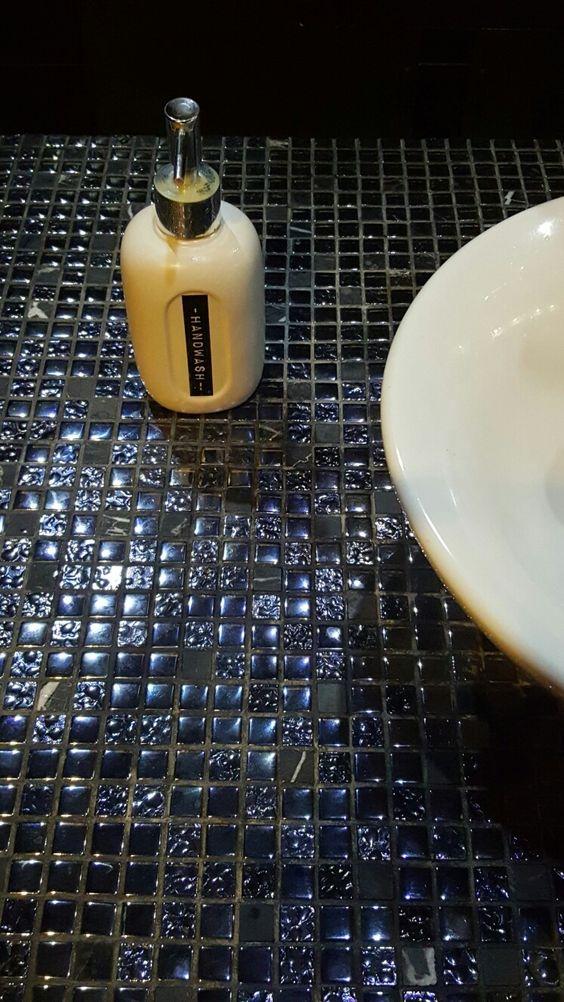 Carreaux De Mosaiques Brillants Pour Sdb Camoufle Bien Quand C