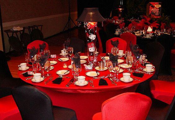 Casino table settings
