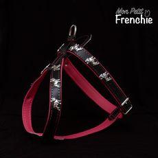 Arnés Bulldog Francés. Talla M - Color fucsia