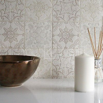 Details zu u0027Marokkanische Kachelu0027 Geometrisch Fliesen-effekt - tapete grau beige