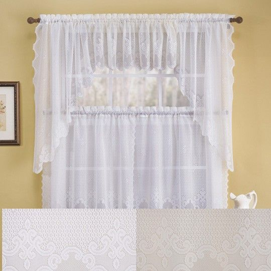 link) Anna's Linens: Griselda Lace Kitchen Curtain $6.99 ~ 60