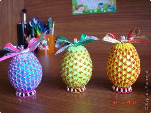 Мастер-класс Бисероплетение: МК бисерные яйца Бисер Пасха. Фото 1