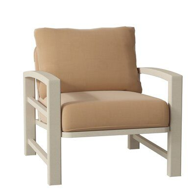 Tropitone Lakeside Patio Chair With Cushions Frame Color Sonora Cushion Color Canvas Heather Beige Wood Patio Chairs Patio Chairs Chair Ottoman