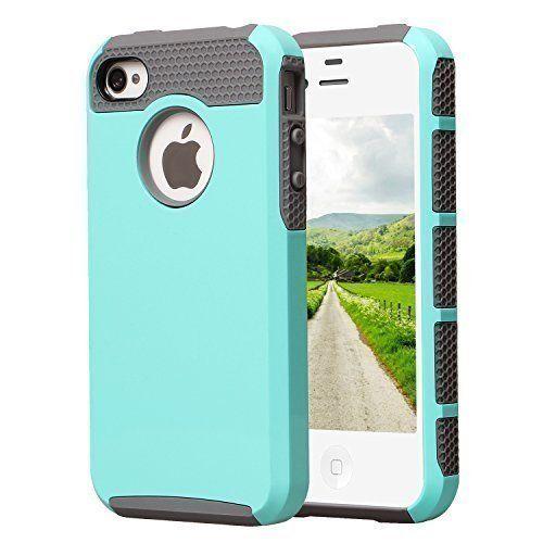 iPhone 4S Case, iPhone 4 Case, AUMI Dual Layer Hybrid Slim Armor Defender Case for Apple iPhone 4/4S