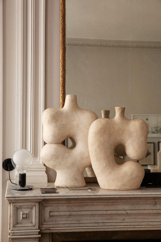 Céramiques Maison Hand Cheminée Miroir Pierre Emmanuel Martin et Stéphane Garotin Lyon