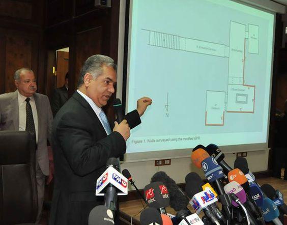 Erste Ergebnisse der Radarscans im Grab des Tutanchamun . . . http://www.grenzwissenschaft-aktuell.de/erste-ergebnisse-radarscans-im-tutanchamungrab20160317 . . . Abb.: Ministry of Antiquities, Egypt