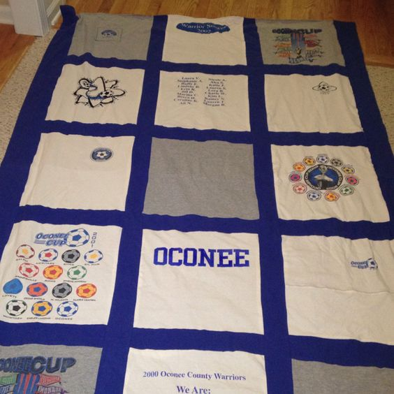 T-shirt blanket from my old high school soccer t-shirts!